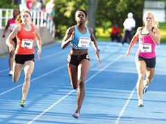 Track athlete, Keshia Baker.