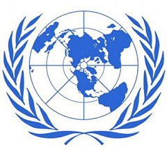 Seal of United Nations.