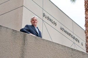 Alumnus Paul Jenningshas offered a $500,000 challenge grant for the CSUN College of Business and Economics. Jennings will match all donations to the college, up to $500,000, one-to-one. Photo by Lee Choo.