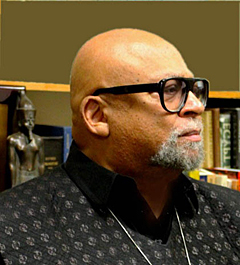 Maulana Karenga, prominent professor and chair of Africana studies at California State University, Long Beach.
