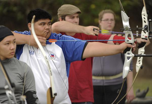 CSUN Archers at the range.