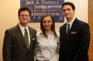 The winning team -- Steven Spanton (left), Amber Deegan and Joseph Zapantis
