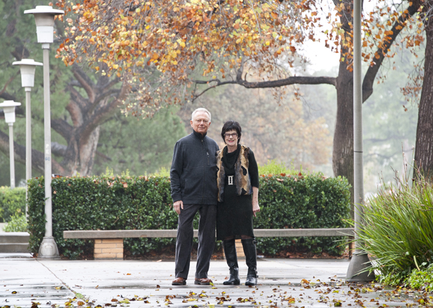 Marty and Joanie Lebowitz on the CSUN campus