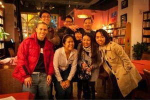 Areeya Tivasuradej (bottom row, second from left) with fellow students.