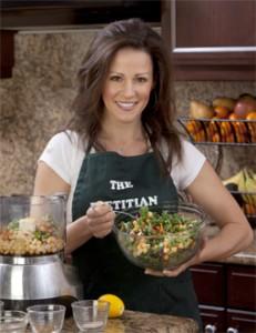 Julieanna Hever preparing food in a kitchen