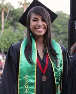 Silvia Juarez Viveros at her undergraduate graduation