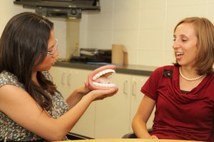 Speech-language pathology students at work. Photo by Lee Choo.