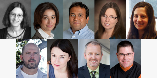 The nine faculty members selected for the CSUN Research Fellows Program.